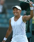 テニスプレイヤ:杉山選手1